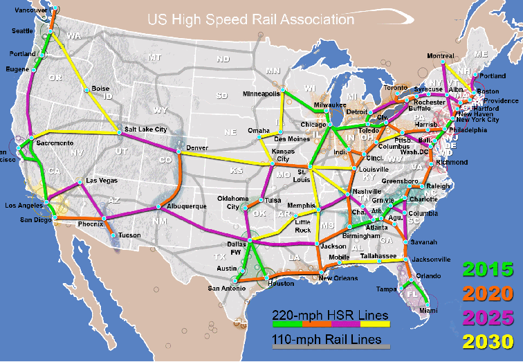 in the maps of us high sd rail is included this map below showing the plan for a regional america regionalism is the key tool i spoke of above to be